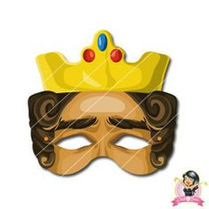 Childrens Printable King Mask | Simply Party Supplies Printable Masks, Printables, Half Mask, Printer Paper, Hole Punch, Print And Cut, Party Supplies, Latex, King