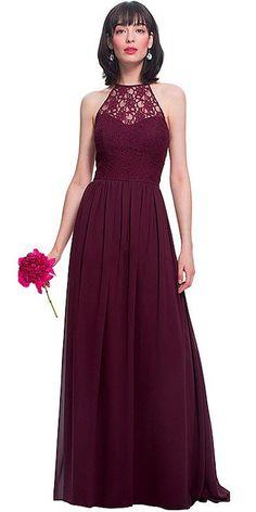 d38a9d2be9d  85.99  Stylish Chiffon   Lace Jewel Neckline A-Line Bridesmaid Dress