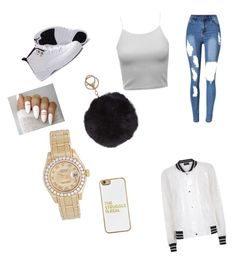 """""""I Slay"""" by daddydeee on Polyvore featuring BaubleBar, Humble Chic, Rolex and Antipodium"""