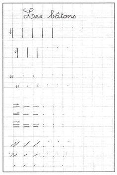 école : références: Les tracés fondamentaux - l'écriture au CP (2/4) par Rachel Boutonnet Calligraphy Practice, Modern Calligraphy, Activities For Kids, Homeschool, Worksheets, Classroom, Teaching, How To Plan, Fine Motor