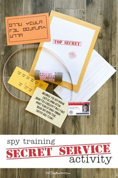 This is such a cool plan for a secret service activity. It's perfect for Activity Days or Girl Scouts and includes printables and instructions. The kids get to train as secret service agents and complete a secret mission complete with spy clues. Babysitting Activities, Train Activities, Primary Activities, Activities For Girls, Church Activities, Indoor Activities, Secret Agent Activities For Kids, Family Activities, Children's Day Activities