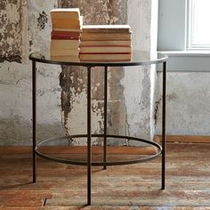 Foxed Mirror Side Table | west elm -  for the living room