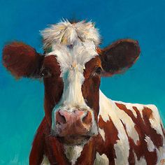 Cow Painting  Bonnie   Print of an Original by ArtPaperGarden, $24.00