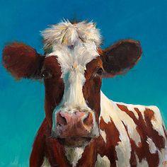 Vache peinture - Bonnie - impression d'une peinture acrylique originale