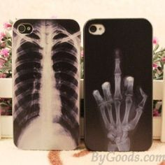 X-ray Skeleton Punk Iphone Cases For Iphone 4/4s/5