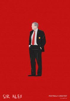 Manchester United Sir Alex Ferguson Print | Etsy