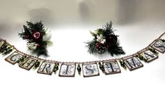 Soldered Glass Christmas Banner or Garland by SisterArtGlass