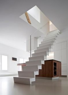 stairs in white