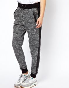 Image 4 of ASOS Sweatpants with PU Pocket