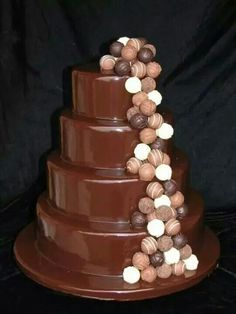 Wedding chocolate cake