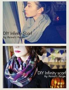 Reina's Reign: DIY Infinity Scarf. Really easy!