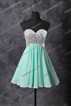 ksoloski's save of Mint short prom dress, tulle prom dress, champagne prom dress, homecoming dress, custom prom dress on Wanelo