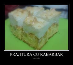 Cristina's world: Prajitura cu rabarbar Pudding, Desserts, Food, Biscuits, Tailgate Desserts, Deserts, Puddings, Meals, Dessert