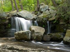 Upper Falls of Mineral Spring Brook, Black Rock Forest, Orange County, New York