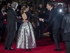 Tom Hiddleston and Natalie Portman at the World Premiere of 'Thor: The Dark World' on October 22, 2013