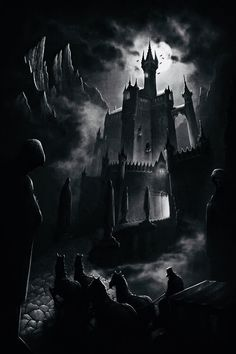 Online digital art gallery of best pictures and photos from portfolios of digital artists. Manually processing and aggregation artworks into the thematic digital art galleries. Gothic Castle, Dark Castle, Fantasy Castle, Vampire Castle, Dracula Castle, Dark Fantasy, Fantasy Art, Creepy Houses, Spooky House