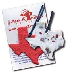 State of Texas Ornament w/Embedded Bluebonnet Seed Great giveaway for your Texas clients. Adventure Gifts, Blue Bonnets, Business Gifts, Personalized Products, Letterpress, Giveaway, Seeds, Swag, Shapes