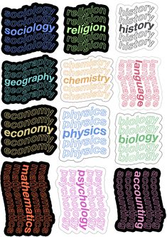 Bubble Stickers, Cool Stickers, Printable Stickers, Laptop Stickers, Homemade Stickers, Life Hacks For School, Journal Stickers, Notebook Stickers, Good Notes