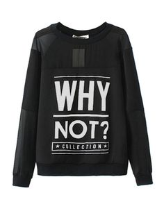 Letter Print Perspective Long Sleeve Womens T Shirts