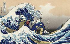 HD wallpaper: Pokemon Gyarados illustration, video games, retro games, anime