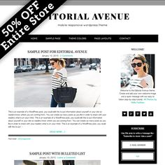 Editorial Avenue WordPress Theme by Studio Mommy on Creative Market