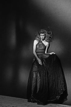 Lindsey Wixson wearing Azzedine Alaïa by Peter Lindbergh