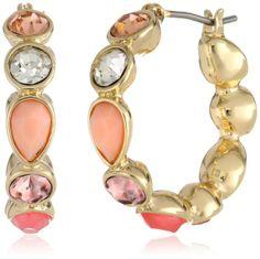 Designer Clothes, Shoes & Bags for Women Nine West, Bracelet Watch, Coral, Hoop Earrings, Bright, Shoe Bag, Bracelets, Gold, Stuff To Buy
