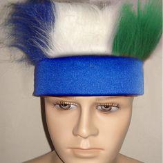 蓝色头带+3色毛