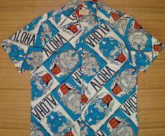 Mens Vintage 60's Shriner's Ui Maikai Tiki Hawaii Cruise Shirt by thehanashirtco
