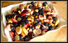 Fruit Salad. This is a very easy recipe! And look how pretty it is!
