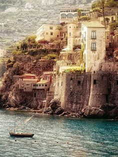Amalfi Coast, Italy, just read about this in Spike Milligans's memoirs of WWII. Just as he described