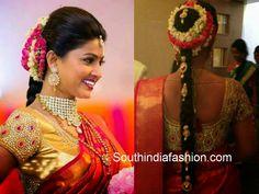 sneha prasanna kundan work bridal saree blouse
