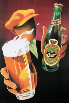Vintage rare Beer ad print poster, large 4 sizes available