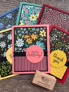 Sneak Peek Card Kit is FREE with $75 purchase at www.thecreativitycave.com through 11/30/2020 Card Making Templates, Card Making Kits, Making Ideas, Handmade Birthday Cards, Greeting Cards Handmade, Stampin Up, Stamping Up Cards, Cute Cards, Easy Cards