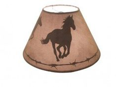 Western rodeo cowboy bronc rider lamp shade by plus by pluszranch cowhide lamp shades mozeypictures Gallery