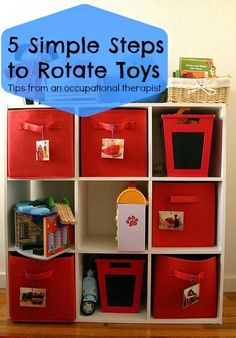 Tips for helping your kids have a renewed interest in the toys they've had all along. OT Cafe: How to Rotate Toys in 5 Simple Steps. @abbypediatricot