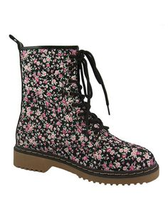 Take a look at this Black Floral Alyson Ankle Boot by Link on #zulily today! My next pair of boots. These are simply great looking boots.