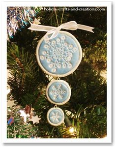 Easy To Make Christmas Ornaments:   Stamped Clay Ornament