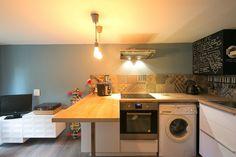 Projets | Mathilde Muscat Muscat, Washing Machine, Kitchen Island, Home Appliances, Design, Home Decor, House Appliances, Projects, Island Kitchen