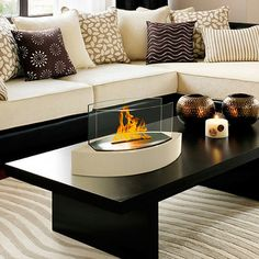 Anywhere Fireplace designs contemporary ethanol fireplaces worth getting fired up about. With wall-mountable, free-standing, and tabletop hearths—and even outdoor torches—there's a design for any space. Clean-burning, ventless, and mess-free, these masterpieces can burn bright without a chimney. Let there be light.  (75) Fab.com | Clean-Burning Warmth And Light