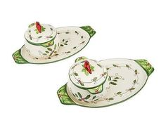 Temp Tations as Is Cardinal 4 Pc Soup and Sandwich Set Dinnerware | Home