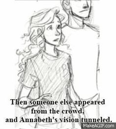 Percy Jackson and Annabeth Chase gig from The Mark of Athena Percabeth, Solangelo, Mark Of Athena, Percy And Annabeth, Annabeth Chase, Percy Jackson Books, Percy Jackson Fandom, Haikyuu, Wise Girl