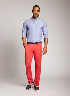 red chino pants men - Pi Pants