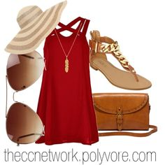 """Summer Cookout Outfit"" by theccnetwork on Polyvore"