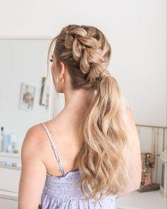 @missysueblog Cute Hairstyles For Teens, Teen Hairstyles, Wedding Hairstyles, Sunset Wedding Theme, Viking Hair, Skin Makeup, Hair Hacks, New Hair, Ponytail