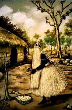 Obaluaiyê, orixá das doenças epidérmicas e pragas, orixá da cura. / Omolu, orixá… Yoruba Orishas, African Mythology, Yoruba Religion, Pan Africanism, African Royalty, Spirited Art, Afro Art, Religious Icons, Gods And Goddesses