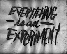 EVERYTHING IS AN EXPERIMENT by Josh LaFayette, via Flickr