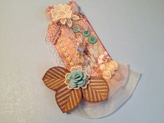 Shabby Chic Mothers Day Tag Gift Tag Assemblage Art by StuffDepot ♥ love tag