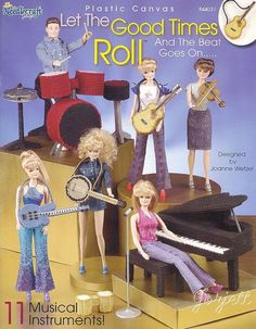 Let The Good Times Roll musical instrument pc patterns fit Barbie fashion dolls #TheNeedlecraftShop #Fashiondollaccessories