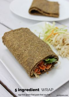 5 ingredient chia seed protein egg-less wrap recipe + video tutorial | purelytwins